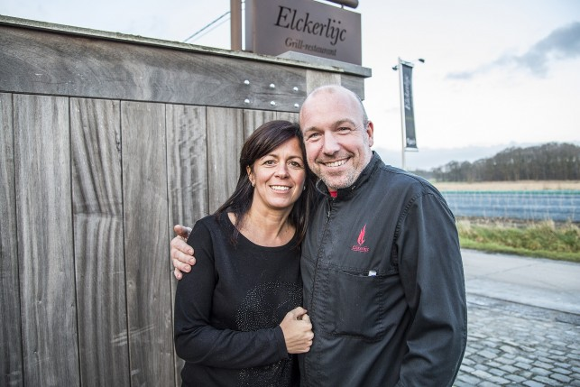 Head Chef and owner Peter De Clercq and Lady of the house Annouk Vanlandschoot