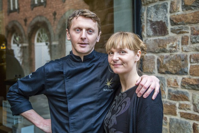 Chef Patron Dimitry Lysens and Lady of he House Aagje Moens