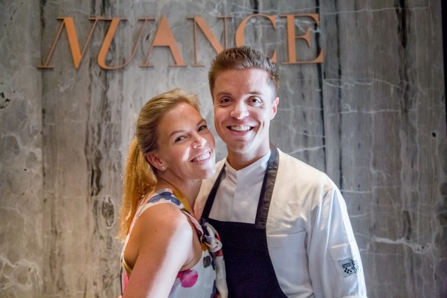 Chef Patron Thierry Theys and Lady of the House Sofie Willemarck