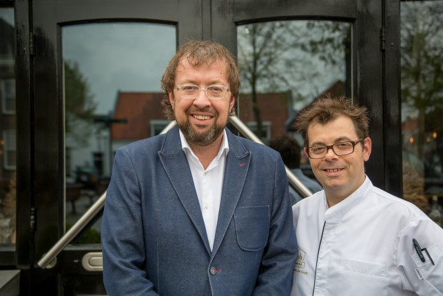 Patron and owner Robert-Jan Nijland and Chef Michel Van Der Kroft